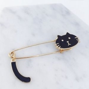 Jewelry - Safety Pin Cat Brooch/Scarf Pin